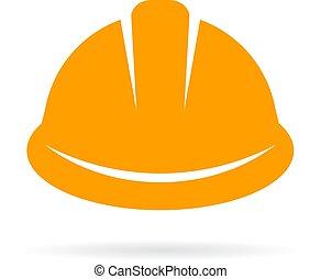כובע של בניה, קשה, צהוב, איקון