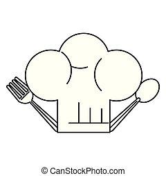 כובע של טבח, ציור היתולי