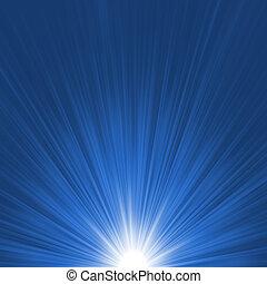 כוכב כחול, התפוצץ, flare., הכנסה לכל מניה, 8, לבן