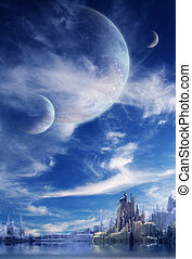 כוכב לכת, פנטזיה, נוף