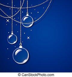 כוס כחול, כדורים, שקוף, רקע
