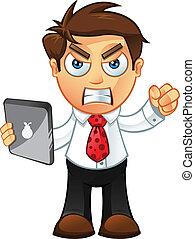 כועס, -, קדור, איש של עסק