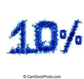 כחול, אחוז, להבה, עשרה