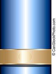 כחול, אלגנטי, זהב, רקע