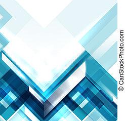 כחול, גיאומטרי, מודרני, תקציר, רקע