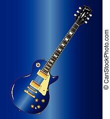 כחול, גיטרה, בלוז