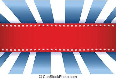 כחול, דגל אמריקאי, לבן, עצב, אדום