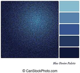 כחול, דנים, לוח צבעים
