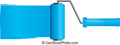 כחול, וקטור, דוגמה, צבע, הפרד, צחצח, צבע, 2, מוט גלילי