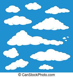 כחול, וקטור, ענן של שמיים
