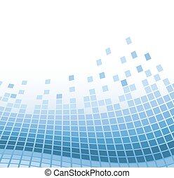 כחול, וקטור, תקציר, דוגמה, particles., מתולתל, רקע, מוזאיקה