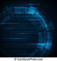 כחול, טכני, טקסט, תקציר, חושך, שים, רקע, שלך