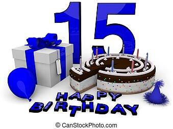 כחול, יום הולדת, שמח