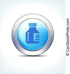 כחול, כפתר, וקטור, בקבוק של תרופה, איקון
