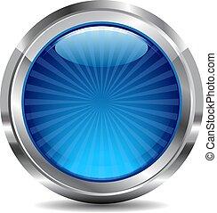כחול, כפתר, וקטור, עצב, איקון, מבריק