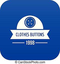 כחול, כפתר, וקטור, עצב, בגדים, איקון