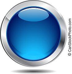 כחול, כפתר, מבריק, איקון