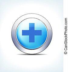 כחול, כפתר, עובר, וקטור, בית חולים, איקון
