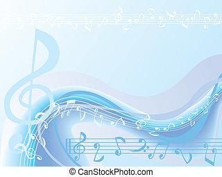 כחול, מוסיקה, רקע