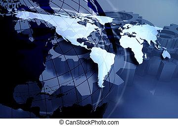 כחול, מפה של עולם