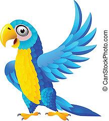 כחול, מקאו, ציור היתולי