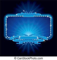 כחול, סימן של נאון