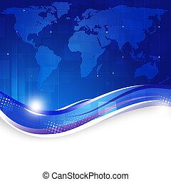 כחול, עסק של עולם, רקע, מפה