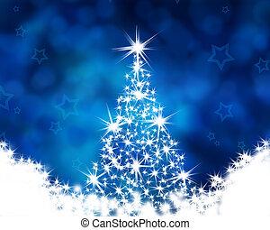 כחול, עץ, חג המולד, רקע