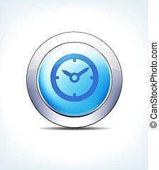 כחול, פגישה, עזרה, כפתר, שעון, וקטור, זמן, איקון