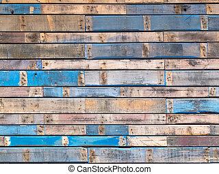 כחול, צבע, סידינג, עץ, חוץ, מלוכלך, קרשים