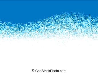 כחול, קיפאון, חורף, רקע, קרח