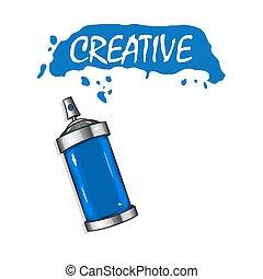 כחול, ריסוסים, וקטור, לוגו, צבע