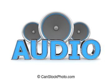 כחול, רמקולים, אודיו, -