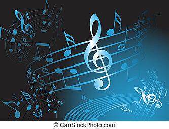 כחול, תימה, מוסיקה