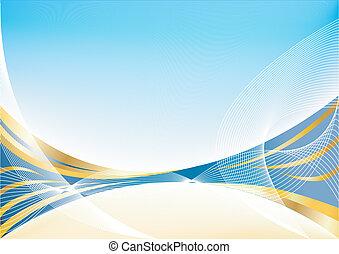 כחול, תקציר, וקטור, זהב, רקע