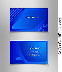 כחול, תקציר, עסק מודרני, כרטיס