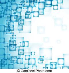 כחול, תקציר, ריבועים, רקע