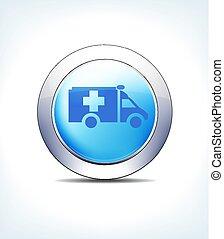 כחול, pharma, &, כפתר, וקטור, שירותי בריות, תוצאות, אמבולנס, איקון