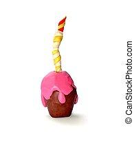 כיורת, עוגה, יום הולדת, צבעוני, ילד