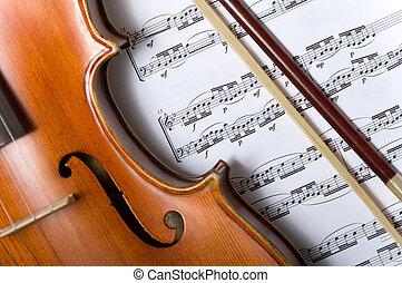 כינור, מוסיקה, כרע