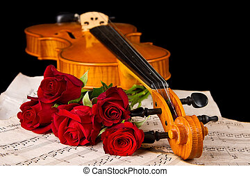 כינור, מוסיקה של דף, עלה
