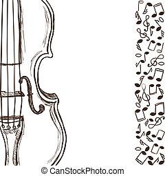 כינור, רואה, מוסיקה, בס, או
