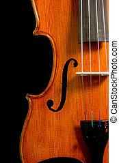כינור, שחור