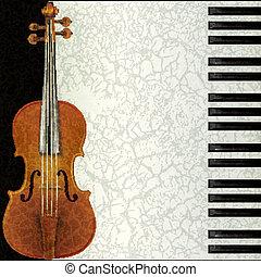 כינור, תקציר, מוסיקה, פסנתר, רקע