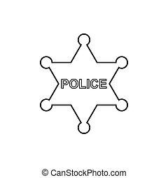 ככב, משטרה, icon., ליניארי, תאר
