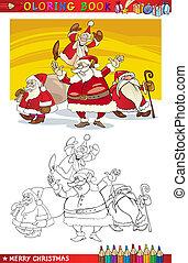 כלאאס, לצבוע, קבץ, ציור היתולי, סנטה