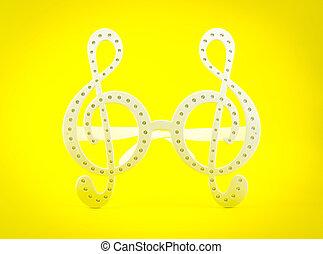 כלאף, רקע, צהוב, *g*, משקפיים