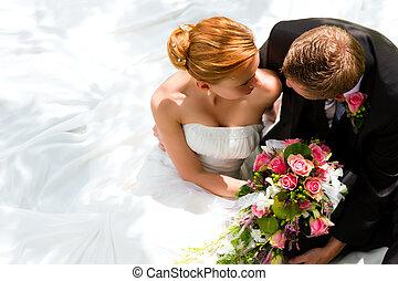 כלה, קשר, טפח, -, חתונה