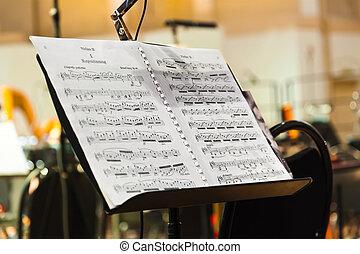 כלים, דף, מוסיקלי, מוסיקה