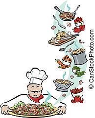 כלים, טבח, שלו